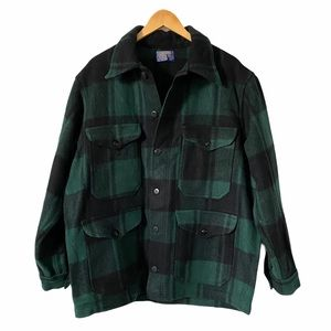 Vintage Pendleton Wool Green Buffalo Plaid Jacket